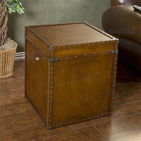 living room trunk amazon com southern enterprises steamer trunk end table