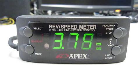 Meter Rsm apexi 1 rev speed meter