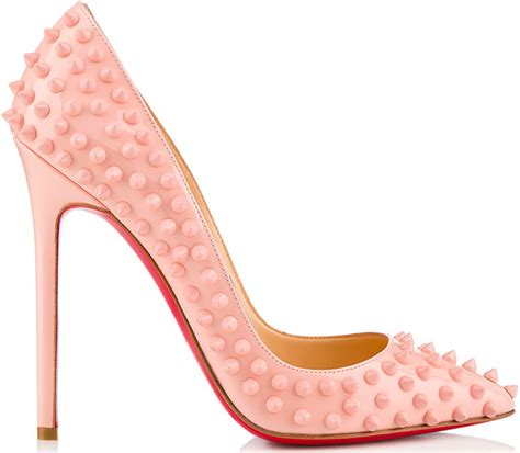 christian louboutin pigalle spikes baby pink