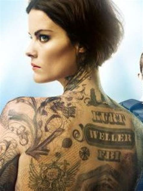 jaimie alexander tattoo the of blindspot with jaimie
