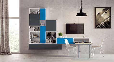 mobile con tavolo estraibile parete soggiorno con tavolo estraibile