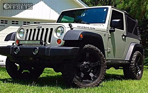 Jeep Wrangler Leveling Kit Wheel Offset 2007 Jeep Wrangler Slightly Aggressive