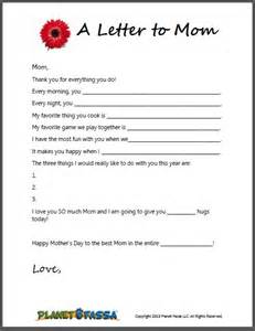 S Day Letter Template by A Letter To Printable Template For To