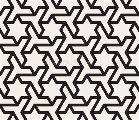 svg pattern tessellation vector seamless black and white geometric star triangle