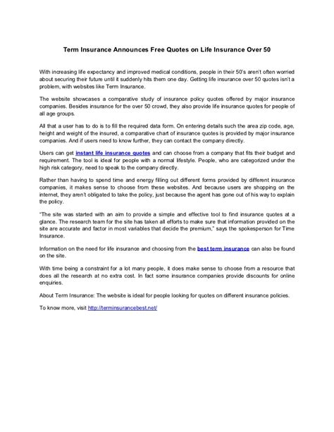 term insurance announces  quotes  life insurance