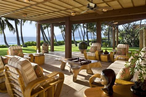 outdoor lanai lanai tropical patio hawaii by ike kligerman barkley