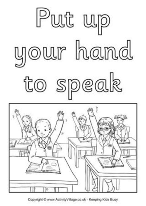 coloring pages school rules school rules colouring posters