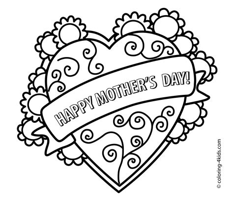 mothers day coloring page s day coloring pages for printable free