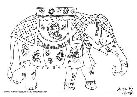 thai elephant coloring page asian elephant clipart coloring pencil and in color