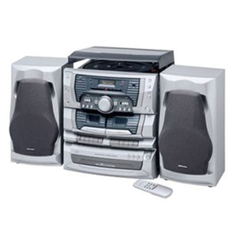 emerson ms9903tt 3 cd home audio system with