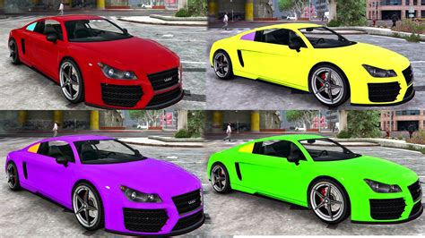 car color car crash rainbow color car crash for