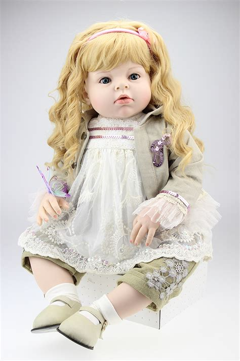 big dolls house 70cm silicone vinyl reborn baby doll for sale lifelike princess girl big size baby