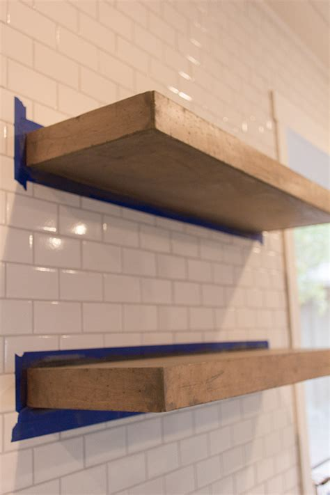 kitchen chronicles diy floating rustic shelves jenna