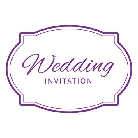 Wedding Emblem Font by Wedding Invitation Badge Transparent Png Svg Vector