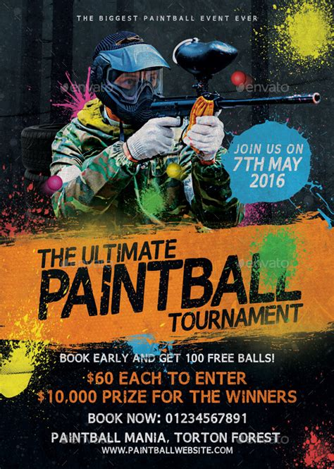 Home Design Software Free Game Paintball Tournament Flyer Template By Mattm3 Graphicriver