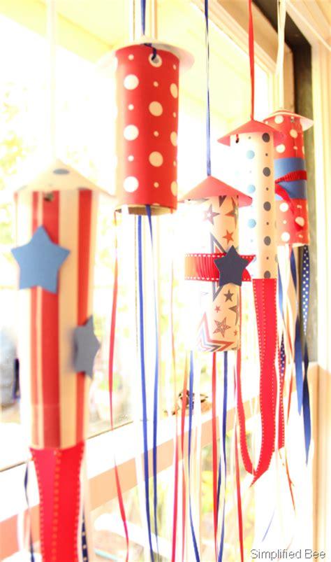 Handmade Fireworks - july 4th craft handmade rocket garland simplified bee