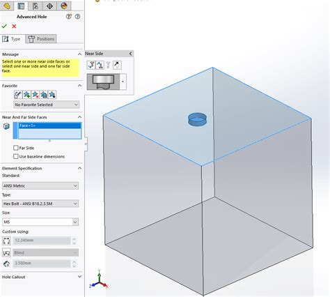 tutorial advanced design system solidworks 2018 advanced hole callout tutorial