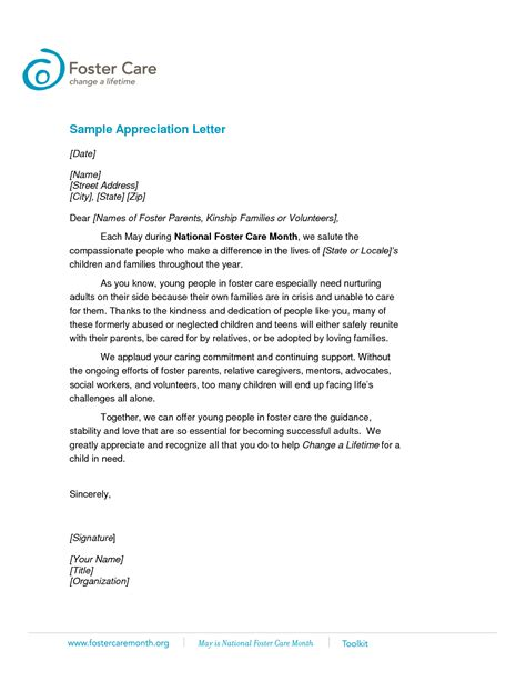 appreciation letter exles best photos of student appreciation letter template