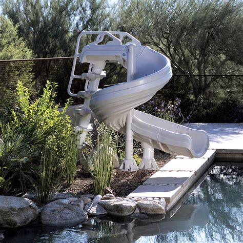 Backyard Pool Water Slides G Inground Swimming Pool Slide