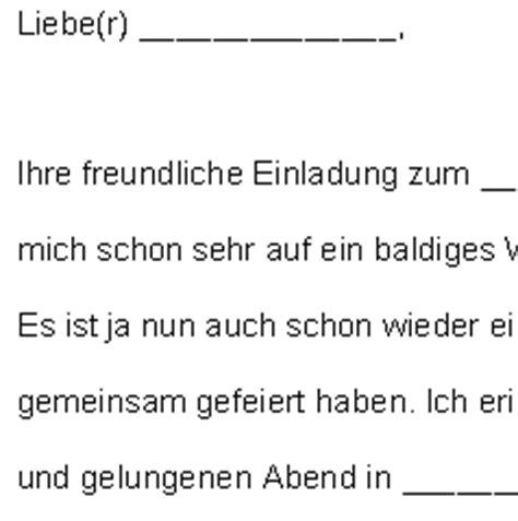 Musterbrief Einladung Geschäftlich Annahme Einer Gesch 228 Ftlichen Einladung Vorlagen De
