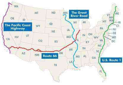 us best road trip map best u s roadtrips 4 great drives fodors travel guide