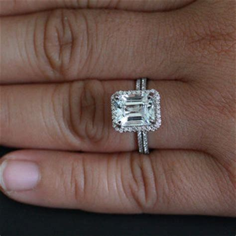 best wedding band for emerald cut engagement ring products