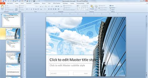 customized powerpoint templates how to create a powerpoint template using a jpg image