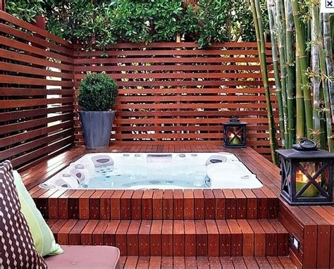 patio interior jacuzzi install the hot tub in the garden 25 ideas to make the