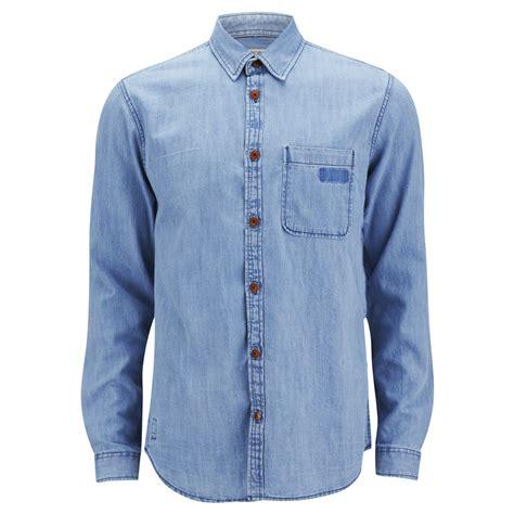 light blue denim mens jones s sharp sleeve denim shirt light