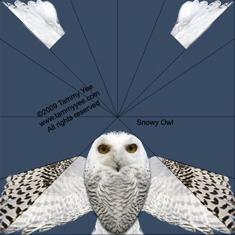 Canon Papercraft Snowy Owl Free Paper - crafters december 2012