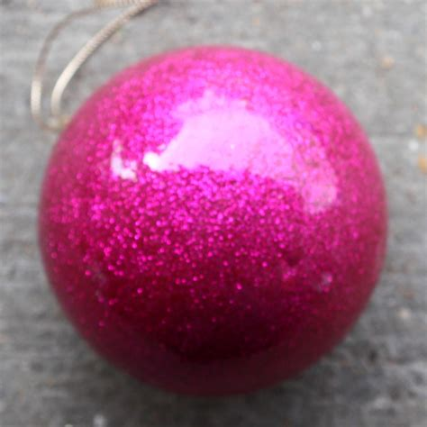 pink glitter baubles ten and a half thousand things
