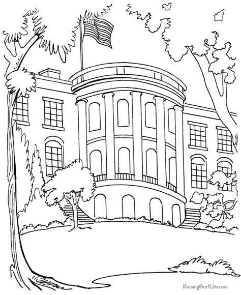 Coloring Page Up House by The White House Coloring Page Coloring Home