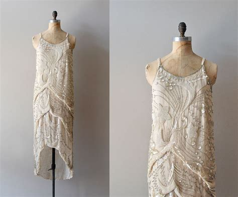 beaded 1920s dress 1920s dress beaded 20s dress diaphanous dress