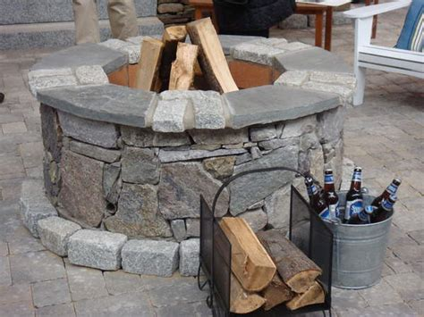 how to build an outdoor fireplace hometone