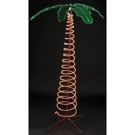 tropical lighted christmas tree 7 deluxe tropical lighted holographic rope light outdoor palm tree decoration walmart