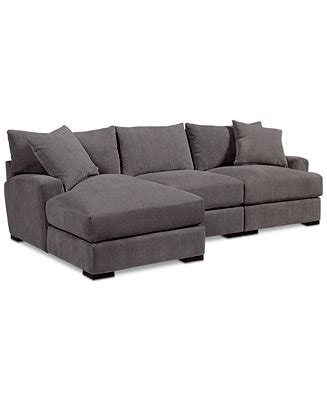 rhyder 4 pc fabric sectional with chaise rhyder 3 pc fabric sectional with chaise created for