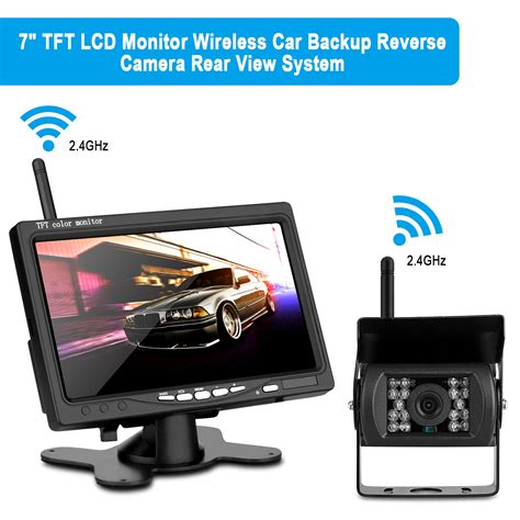 tft color monitor wd 780sy wireless car rear view 7 tft color monitor and