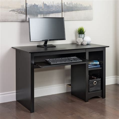 prepac sonoma small wood laminate computer desk black ebay
