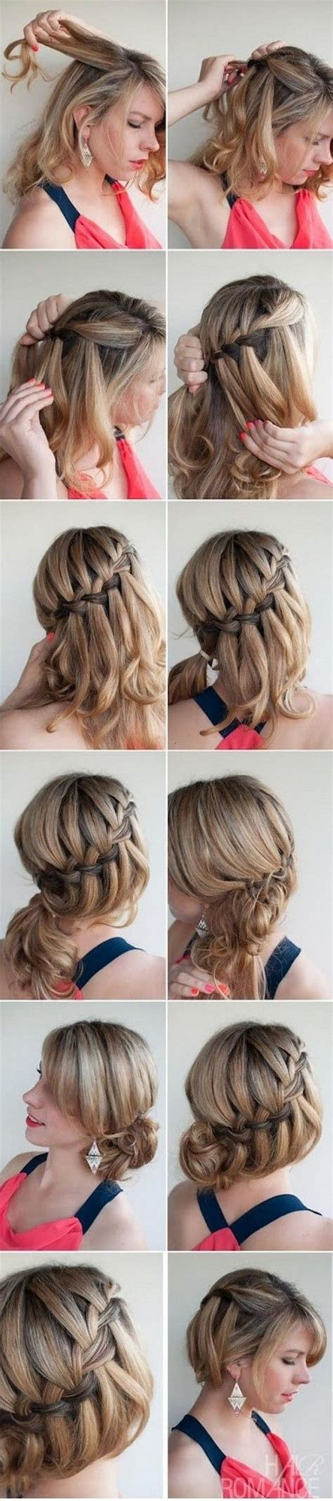 waterfall braid bun 28 diy hairstyles 17 best images about hairstyles on pinterest braids