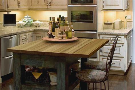 Kitchen Dining Table Ideas teak countertop