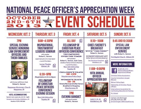 Officer Appreciation Day by Are You Ready For Revival National Peace Officer S