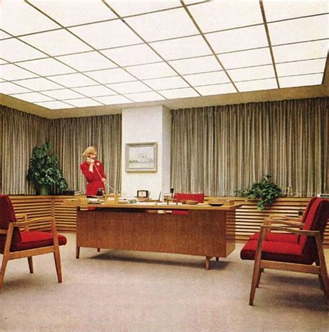 unnamed company mid century mad men style office office snapshots vintage ad corning glass great mid century modern office