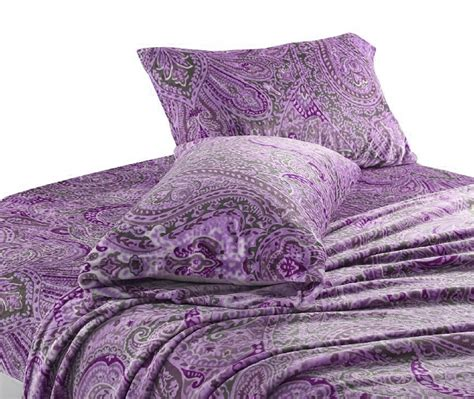 velvet soft cozy sheet sets full size cozy fleece soft plush paisley sheet sets lavender cozy fleece ebay