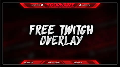 Free Twitch Overlay Template Psd Free Download Free Gfx Youtube Overlay Template