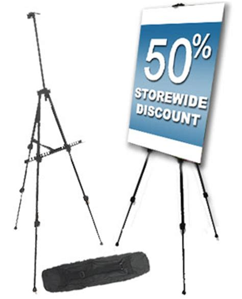 Tripod Poster display stands a wide selection to hold posters and banners