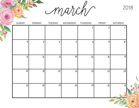Galerry printable planning calendar 2018