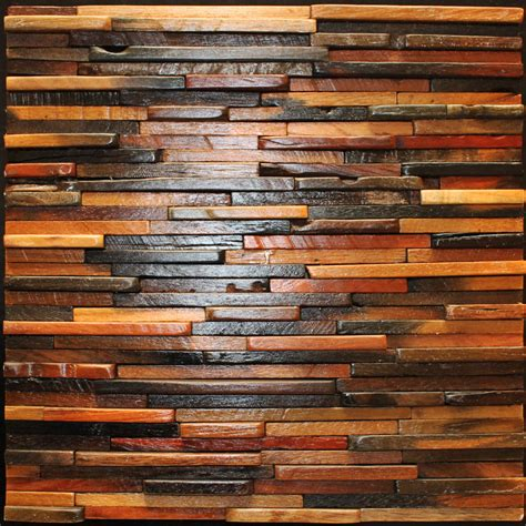 decorative wall tile idea feature mosaic wood tile with - Decorative Wall Tiles