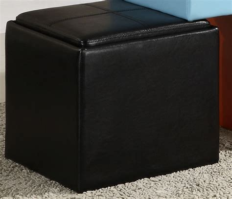 Vinyl Storage Ottoman Ladd Storage Cube Ottoman Black Bi Cast Vinyl From Homelegance 4723bk Coleman Furniture