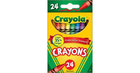 crayola crayons 24 color peggable bin3024 crayola llc