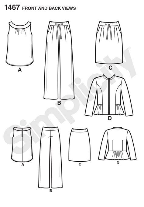 pattern review best patterns simplicity 1467 misses miss petite top jacket pants